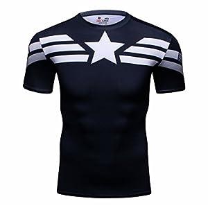 camisas y camisetas: Cody Lundin® Hombres Deporte Apretado Camisa Película Captain héroe Formación Ru...