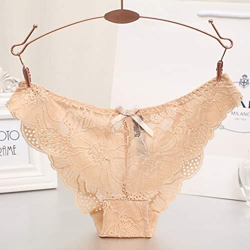 CozyBella Damen Unterhosen mit Spitzenbesatz Slip Bikini Taillenslip Unterwäsche Hipster - 3