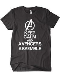 Avengers Assemble T shirt Keep Calm and Call the Avengers! Black
