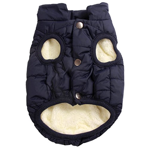 Kostüm Baby Beagle - Mit Fleece gefütterte Hundejacke mit 2 Schichten von JoyDaog, sehr warm für den Winter und kaltes Wetter, extraweiche, winddichte Hundeweste(XL, blau)