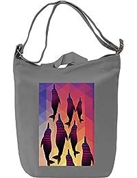 Dolphin Dance Bolsa de mano Día Canvas Day Bag| 100% Premium Cotton Canvas| DTG Printing|