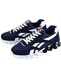 Zapatos Casuales para Hombres Zapatillas Deportivas Antideslizantes Zapatillas de Deporte Zapatillas de Moda Zapatos de Malla Transpirables para Caminar al Aire Libre