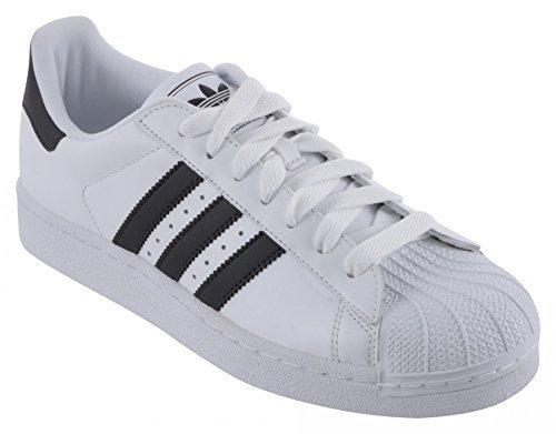 Adidas Herren Superstar 2 (Adidas Superstar 2 White Black Mens Trainers Size 10 UK / 44 2/3)