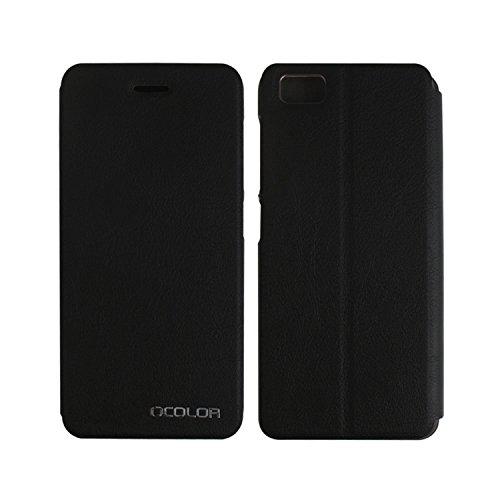 Owbb Hülle für UleFone Future Handyhülle Hard Plastik PU Ledertasche Flip Cover Tasche Hülle Case mit Stand Function Retro Klapphülle Hochwertige Design Schwarz