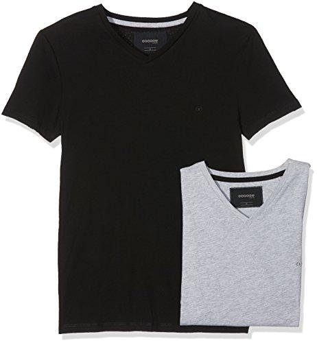 Bonobo Skepakh Herren T-Shirt, 2er Pack Grau / Schwarz