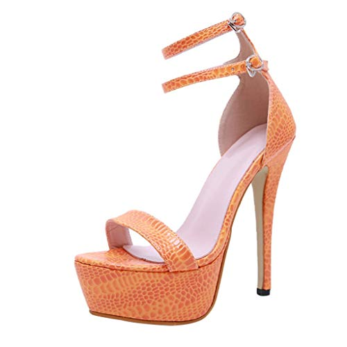 ODRD Sandalen Shoes Populäre Zufällige Krokoprägung-Laufstegnachtklub-hohe Absätze der Frauen 2019 Partei-Hochzeit Schuhe Strandschuhe Freizeitschuhe Turnschuhe Hausschuhe Pumps Slipper