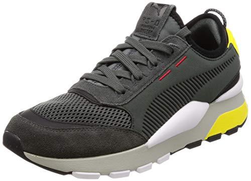 Puma rs-0 winter inj toys, scarpe da ginnastica basse unisex-adulto, grigio (dark shadow-blazing yellow), 43 eu