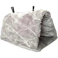 WINOMO pájaro loro animales peluche Snuggle hamaca suspendida Snuggle Cave–Talla M (color gris)