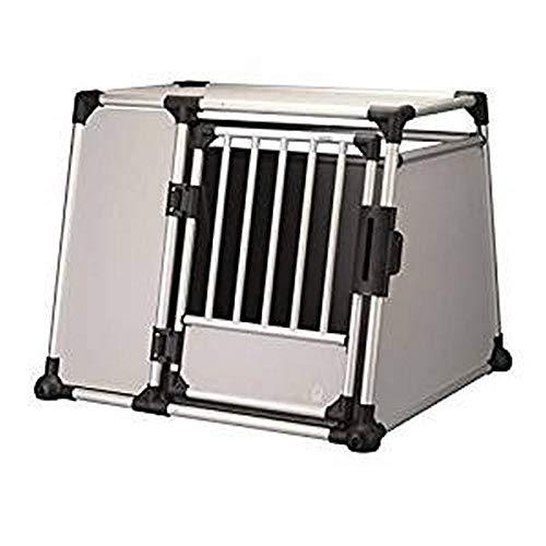 Trixie 39344 Transportbox, Aluminium, L-XL: 94 × 75 × 88 cm, silber/hellgrau