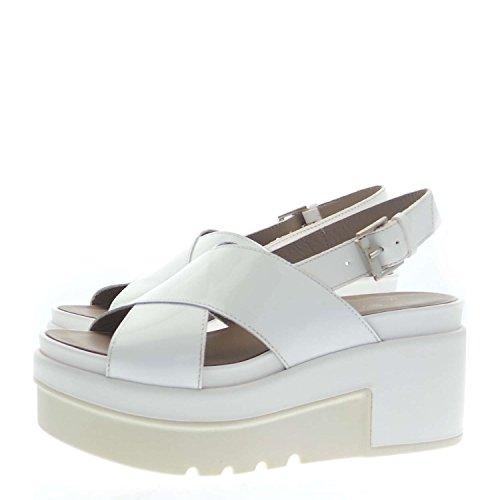 Janet Sport 35803 Sandalo Donna 100% Pelle Bianco Bianco 39
