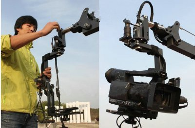 Gowe 15,8 FT PAN TILT Kopf 5 Kilo Kamera Kran Jib Arm JIBS Video LCD Monitor Kit - Kran Head Jib