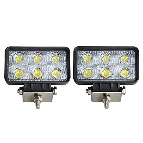 2 X 18W LED Arbeitsscheinwerfer weiß 12V 24V Punktstrahl Flutlicht Reflektor work light Scheinwerfer Arbeitslicht Offroad SUV UTV ATV Arbeitslampe Traktor Bagger spot beam Spot Beam