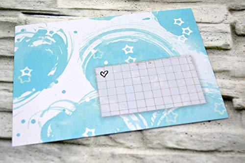 Stück, hellblau blau weiß Sterne, Kuverts, für Einladung, Alles Gute, Geburtstag, Geburt, Taufe, Grüße, Alles Liebe, basteln, Wolken, Himmel, Sterne ()