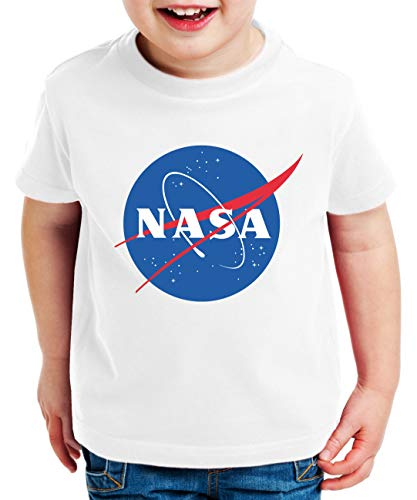 NASA Logo Camiseta para Niños Astronaut Space Rocket Moon, Kinder T-Shirt Größe:122-128...