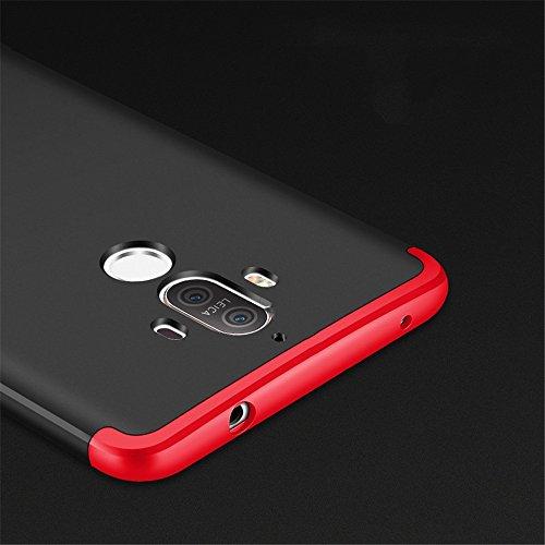 iPhone X Coperture rigide TXLING Placcatura PC Opaco Ultrasottile Antiscivolo Protettiva Rigida Cassa Bumper Shock-Absorption e Anti-Scratch 3 in 1 Case Cover Per Custodia iPhone X - Nero Nero rosso
