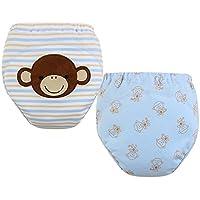 [Mono] bebé pantalones del entrenamiento del tocador del pañal de la ropa interior del pañal del paño 15.4-26.4Lbs