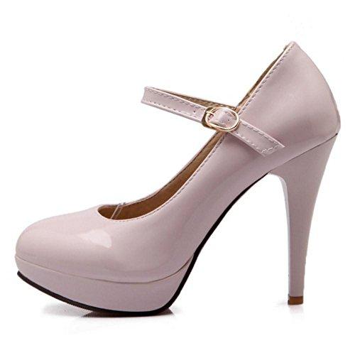 TAOFFEN Femmes Elegant Aiguille Escarpins pink