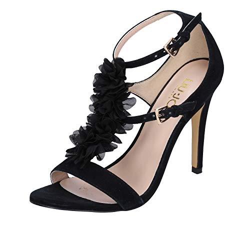 LIU JO SANDALO AIKO TC100 S17019 P0021 NERO sandalo donna con tacco, Nero, EUR 38