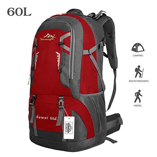 Bioasis 60L Mochila Senderismo Cubierta Caminata Daypack