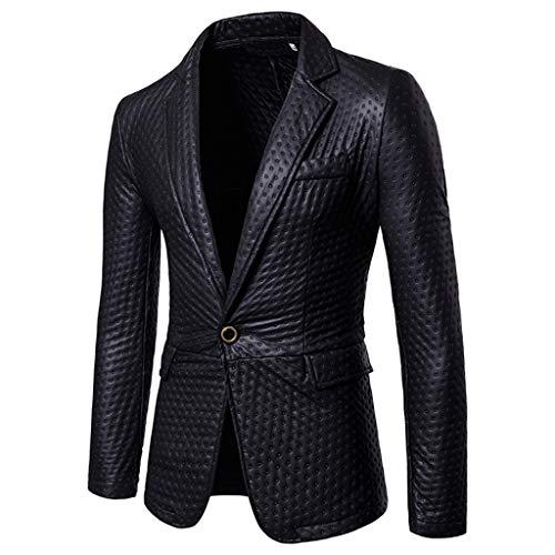 Longra Herren Slim Fit Sakkos Bright-Faced Anzughose Einknopf Anzugjack Freizeit Anzüge Fashion Smokingjacken Schnitt Anzugjacken Suit Pure Color Coat