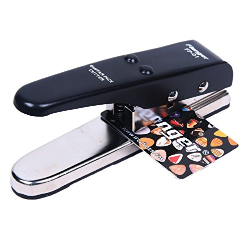 Signstek - Fustella per realizzare plettri, portatile, professionale, per utilizzo anche con metallo, colore nero