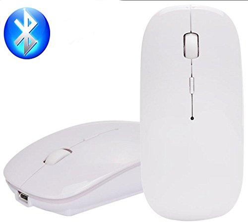 Wireless 2-knopf-bluetooth-maus (Bluetooth Mouse, EONANT 3.0 Portable Maus mit Wiederaufladbare Wireless USB Maus Leise und Ruhig Click für Notebook, PC, Laptop, Computer, Windows / Android Tablet, Macbook (Weiß))