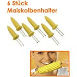 6 fiesta para mazorcas de maíz mazorcas de maíz palillos para fiesta Picker amuse