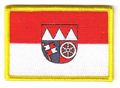 Flaggen Aufnäher Patch Unterfranken Fahne Flagge