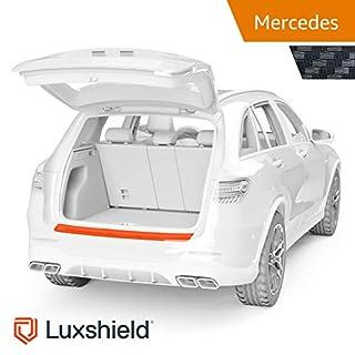 Luxshield Ladekantenschutz Folie inkl. Profi-Rakel - E-Klasse T-Modell S213 ab 2016 - Stoßstangenschutz, Kratzschutz, Lackschutzfolie - Carbon-Optik - selbstklebend