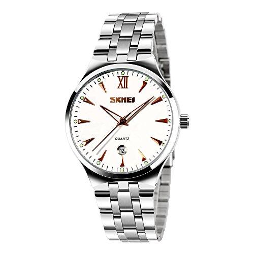 CIVO-Herren-Luxus-Edelstahlband-Business-Casual-Uhr-Mnner-Analog-Quarz-Armbanduhr-Rmische-Ziffer-Zeitlos-Einfach-Classic-Kalender-Wasserdichte-Uhren-Rot-Gold-mit-Uhrenarmband-Entferner-Werkzeug