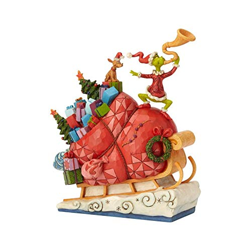 ENESCO Dr. Seuss The Grinch by Jim Shore Schlittenfigur, 24,1 cm, Mehrfarbig (Dr Seuss Halloween)