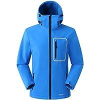 Eono Essentials Men's Softshell Jacket with Fixed Hood