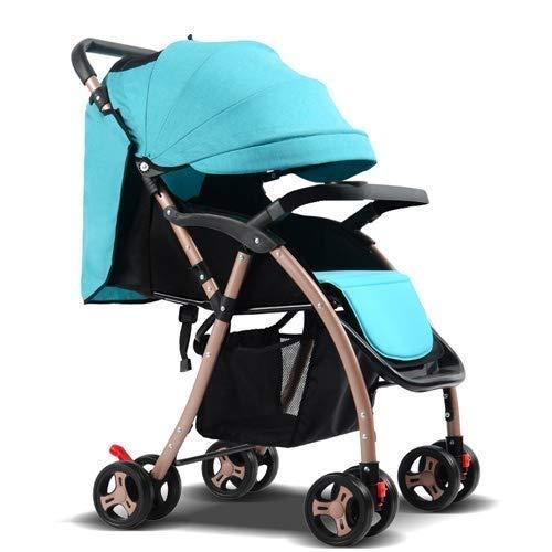 EGCLJ Kinderwagen - Puppenwagen Kinderwagen - Zusammenklappbarer Kinderwagen Mit Vier Rädern - Kinderwagen Für Neugeborene Und Kleinkinder