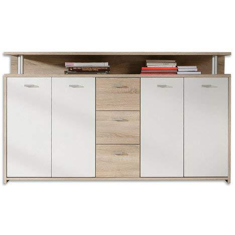 ROLLER Sideboard PABLO – Sonoma Eiche-weiß – 152 cm - 2
