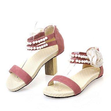LvYuan Da donna-Sandali-Formale Casual-Altro-Piatto-Felpato-Blu Giallo Rosa Beige Pink