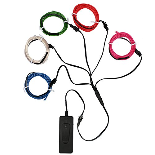 ESUMIC®5FT/1.5M Sound Activated Neon Glowing Strobing ...