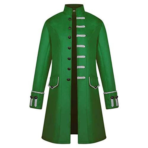 Writtian Herren Frack Mantel Steampunk Gothic Jacke Retro Vintage Viktorianischen Cosplay Kostüm Smoking Jacke Uniform Mittelalter Kleidung Jacke Herbst und Winter - Herren Viktorianischen Kostüm Muster