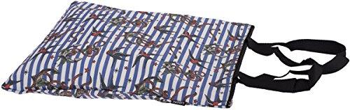 Liquor Brand ANCHOR BIRD Striped Oldschool SWALLOW Shopping Bag / TASCHE Rockab Beige mit farbigem Druck