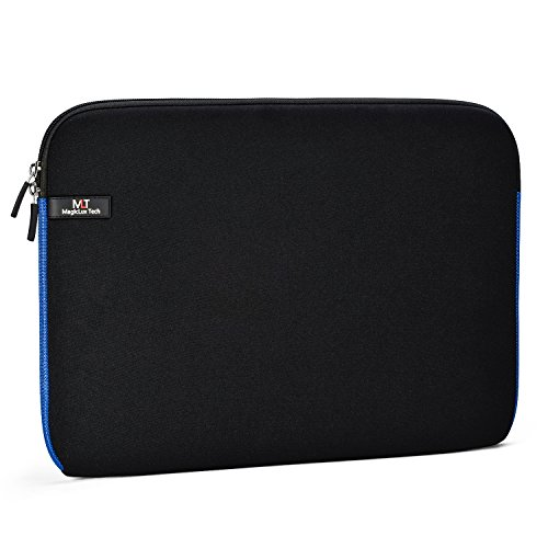 Magiclux Tech 13 13,3 Zoll Laptoptasche Notebooktasche Laptophülle Laptop Schutzhülle Notebook Tasche Laptop Sleeve/Case Schutztasche Wasserfest Neoprene Laptop Hülle/ Notebook Computer Tablet Ultrabook Schutzhülle/ Briefcase Carrying Bag/ Pouch Cover/ Skin Cover/ Netbook Tasche Für Acer/ Asus/ Dell/ Fujitsu/ Lenovo/ HP/ Samsung/ Sony/ Toshiba (Schwarz mit Blau)