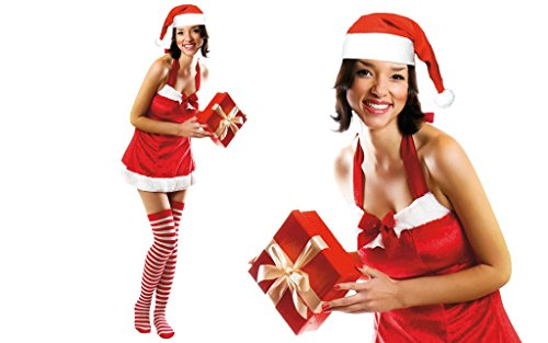 Santa Claus Kostüm sexy Frau b Mutter Größe S (Mutter Claus Kostüm)