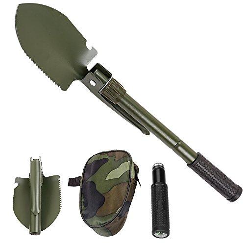 Bellagione Klappbare Schaufel und pickax Mini, tragbar, mit Tasche-Tool für Outdoor Survival, armee-grün (Mit Schaufel Auto-notfall-kit)