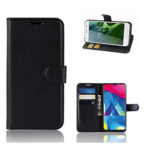Ronsem Xiaomi Mi8 Youth / Mi8 Lite Hülle PU Leder Wallet Schutzhülle mit Kartenschlitz Flip Handyhülle für Xiaomi Mi8 Youth / Mi8 Lite - Schwarz