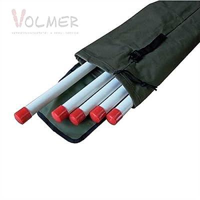 Stahlrohr-Fluchtstäbe (zerlegbar) 2.16 m - 6-er Paket in Tasche