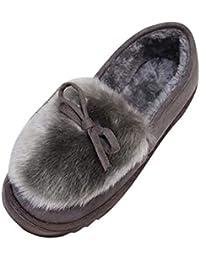 Zapatos de nieve para mujer,Sonnena Zapatillas bajas de mujer Bowknot de moda Zapatos antideslizantes de fondo plano Además de botas de nieve de terciopelo