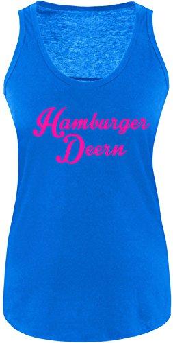 EZYshirt® Hamburger Deern Damen Tanktop Royal/Pink