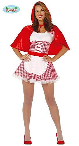 Guirca Costume Cappuccetto Rosso Adulta Taglia S 36-38, Colore Bianco, 88630