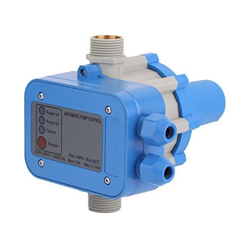 Pudincoco PC01 Elektronische Wasserpumpe Automatischer Druckschalter Wasserpumpe Druckregler Wasserpumpe Schutz-Blau