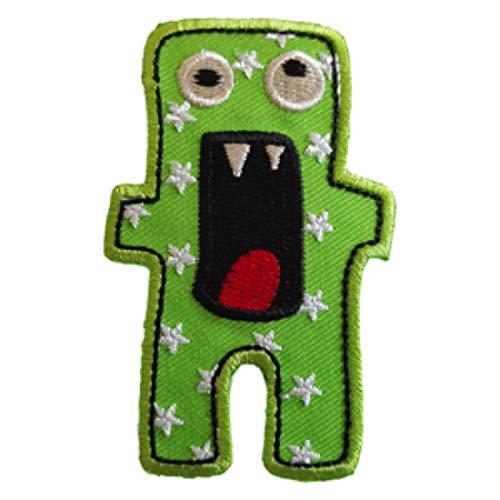 TrickyBoo 2 Aufbügler Gruseliges Monster 5X7cm Möwe 11cm High Set Aufnäher Flicken Applikationen zum Ausbessern von Kinder Kleidung mit Design Zürich Schweiz für Deutschland und Österreich (Monster Mädchen High Amerikanische)