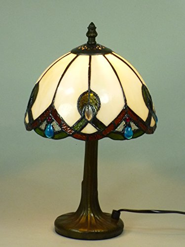 Tiffany-Leuchte Tiffany-Lampe aus echtem Glas Chantal-S Glas-Tischleuchte Glas-Tischlampe - Tiffany Bronze Lampe