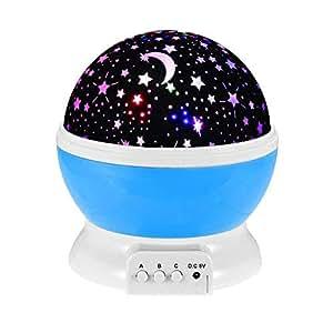 Weihnachtsgeschenke Jungen 12.Gzmy Nachtlicht Mond Sterne 360 Grad Drehung Einzigartige Beste Geschenke Für Kinder